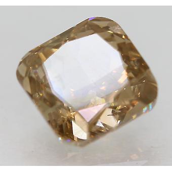 Certified 1.50 Carat Intense Brown VS1 Cushion Natural Loose Diamond 6.33x6.32mm