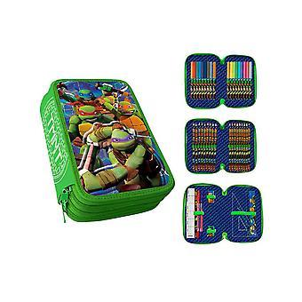 Ninja Turtles Triple School Set, 43-part pencil set, 3D Pennskrin