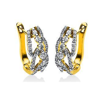 Diamond earrings earrings - 18K 750/- Yellow gold - 0.61 ct. - 2H371G8-1