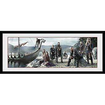 Vikings Beach Framed Plate 30*75cm