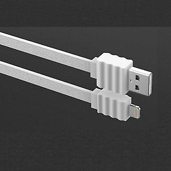 DEVIA Flat 2Amp Lightning kabel för iPhone iPad iPod - Vit