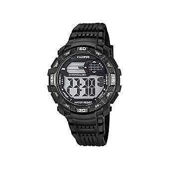 Calypso K5702/8-pols horloge, Man, kunststof, kleur: zwart