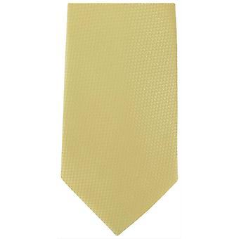 Michelsons Of London Semi Plain Extra Long Polyester Kravat - Altın