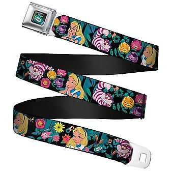 Disney Alice in Wonderland 'Drink Me' Bottle Webbing Seatbelt Buckle Belt