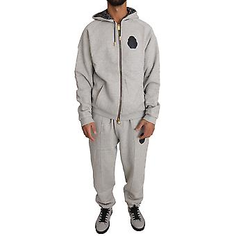 Gray cotton sweater pants tracksuit a01