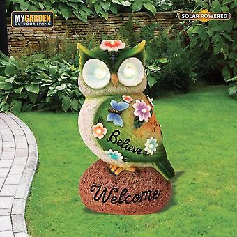 My Garden Polyresin Owl Solar 7 LED Light Decorative Ornament Secret Gift Resin