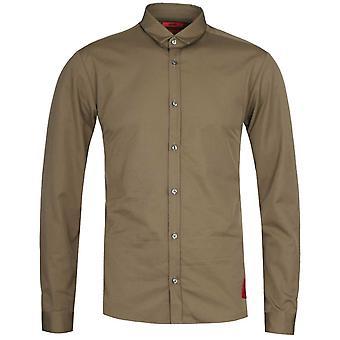 HUGO Ero3-W Extra Slim Fit Long Sleeve Military Green Shirt