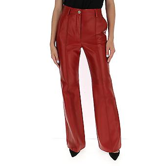 Gucci 629532xn3366460 Women's Red Leather Pants