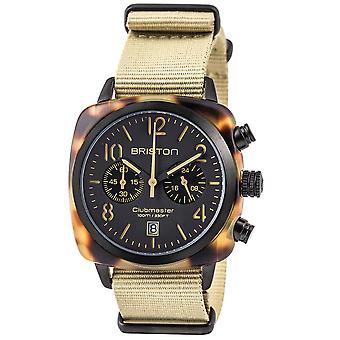 Briston Clubmaster Classic Quartz Chronograph Mens Watch 14140.PBAM.TS.5.NK