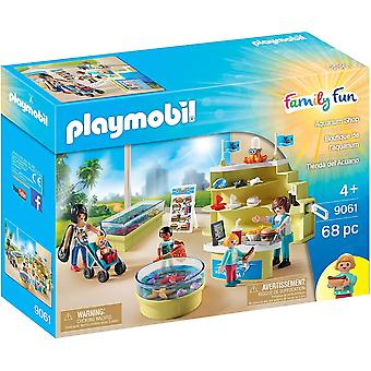 playmobil 9061 family fun aquarium shop playset 68pcs role play set