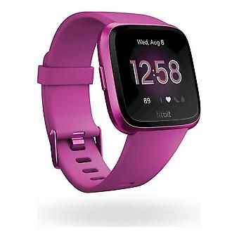 fitbit - Smartwatch - Versa Lite - Mulberry-Mulberry Aluminum - FB415PMPM