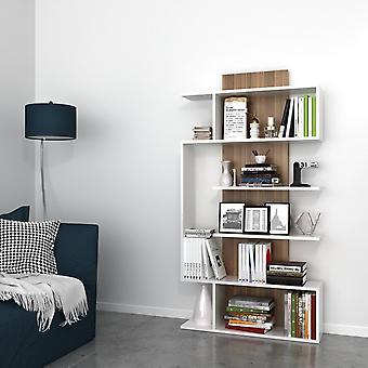 Joke Color White Library, Melaminic Chip Nut, PVC 90x22x172 cm