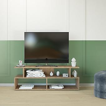 Mobile Porta TV Robbie Color Legno Naturale in Truciolare Melaminico 120x40x42 cm