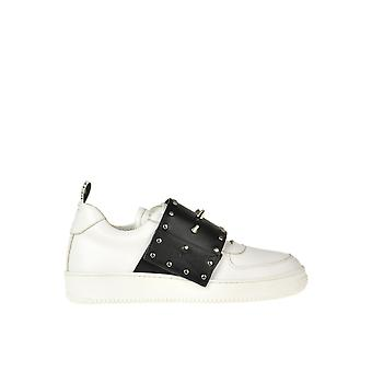 Vermelho Valentino Ezgl003054 Women's White/Black Leather Sneakers