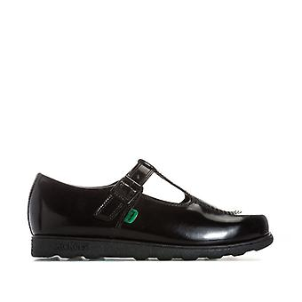 Women's Kickers Fragma T Patent Shoes in Black