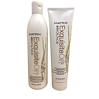 Matrix Biolage Exquisite Moringa Oil Blend Shampoo 16.9 OZ & Conditioner 10.1 OZ