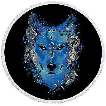 Native American Blue Wolf strandlaken
