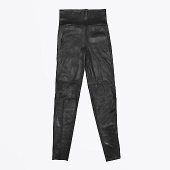 אניה שירמולט-מכנסי עור-שחור