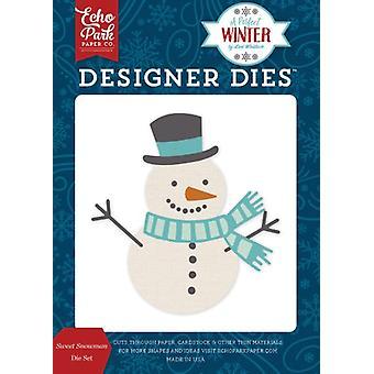 صدى بارك مصمم الشتاء المثالي يموت مجموعة رجل الثلج الحلو