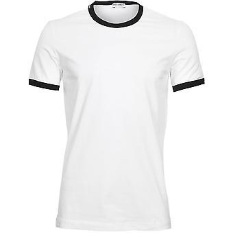 Dolce & Gabbana Sport Kontrast Trim Logo T-Shirt, weiß/schwarz