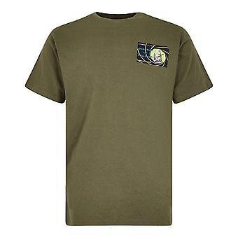 Weird Fish Men's Quantum Art Short Sleeve T-Shirt Green