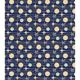 """Ambachtelijke Consortium Decoupage Papers 13.75"""" X15.75"""" 3/Pkg-blauwe sterren"""