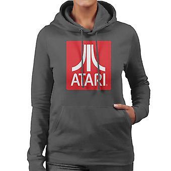 Atari Classic Red Block Logo Women's Hooded Sweatshirt