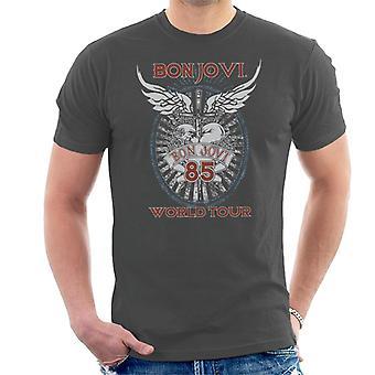 Bon Jovi 85 World Tour Miesten T-paita