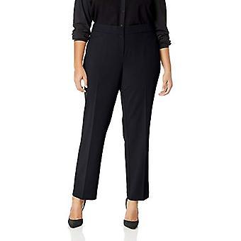Lark & Ro Women's Plus Size Straight Leg Trouser Pant: Classic Fit, Navy, 18WS