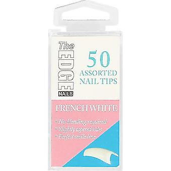 The Edge Nails Assorted Nail Tips - Frans wit (maat 1) (50 nageltips)