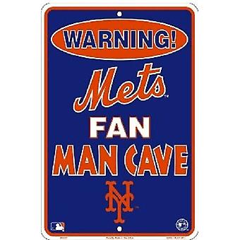 New York Mets MLB Fan Man Cave Parking Sign