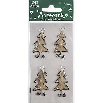 أشجار عيد الميلاد بطاقة تجميل قبل أرتوز