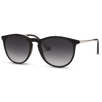 Okulary przeciwsłoneczne Unisex Panto czarny/dym (CWI365)
