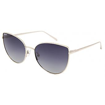 Sunglasses Women Bloom Polarizes Gold with Blue Lens (pblo0202/F)