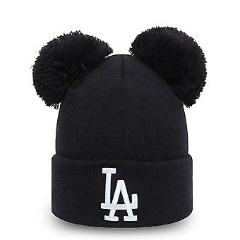 New Era Damen Wintermütze Double Bobble Beanie - LA Dodgers