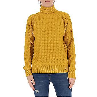 Pinko 1b14x2y6qpa42 Kvinder's Gul Viskose Sweater