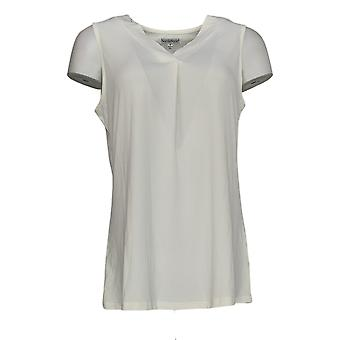 NorthStyle Women's Top Pullover V-Neck Sleeveless White