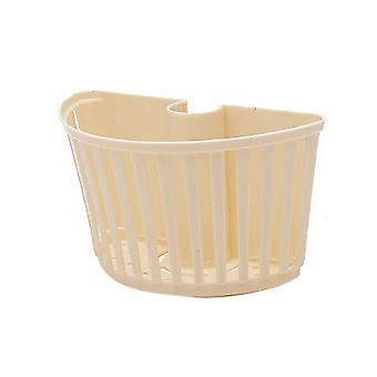 Plastic Storage Basket Bathroom Detachable Drain Rack Beige