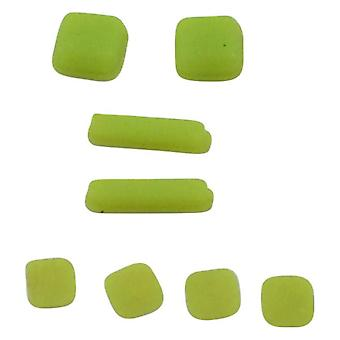 Feet and screw cover set for ds lite console rubber silicone with adhesive replacement - green | zedlabz