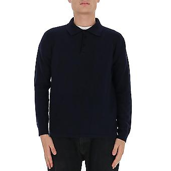Laneus Mgu1412cc12bl Men'camisa polo de algodão azul