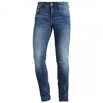 G-Star Raw 3301 Gedeconstrueerd Skinny Medium Indigo Aged Blue Jeans D01159