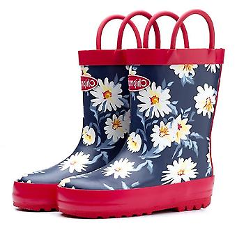Chipmunks wellies daisy floral print