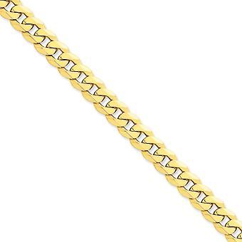 14 k giallo oro solido lucido aragosta artiglio chiusura 10mm smussato Curb catena cavigliera - 9 pollici - moschettone