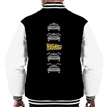 Back to the Future Delorean Doors Opening Men's Varsity Jacket