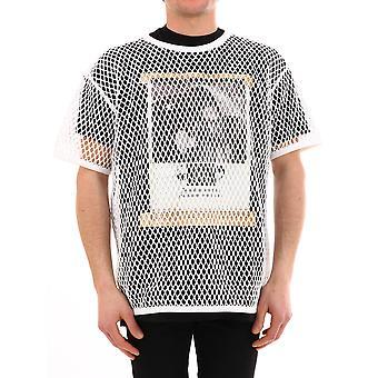 Burberry 454946010700 Men's White Cotton T-shirt