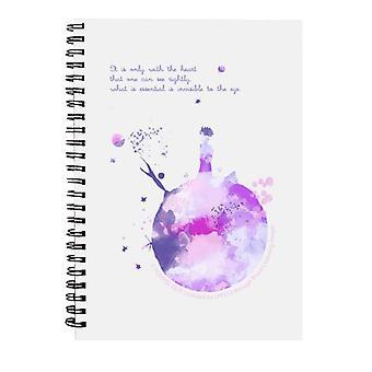 Den lille prins lilla Paint Effect Hjerte Citat Spiral Notebook