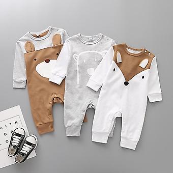 Cotton Cartoon Bear Siamese Romper Newborn Clothes - Baby Crawler Jumpsuit