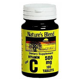 Nature's Blend Vitamin C, 500 mg, 100 Tabs