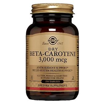 Solgar Dry Beta Carotene, 10,000 IU, 250 Tabs