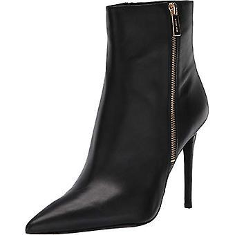 مايكل مايكل كورس النساء كيك bootie الجلود وأشار إلى أحذية أزياء الكاحل